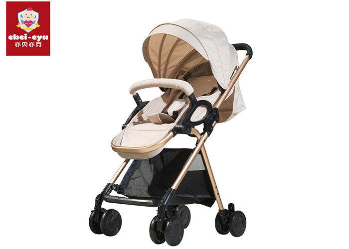 Anti Shock Portable Baby Pushchair Stroller Folding Carriage Polyester / Oxford Material